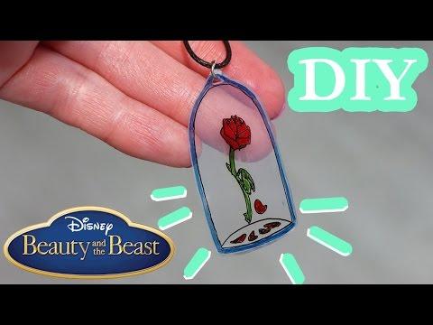 DIY PIĘKNA I BESTIA WISIOREK! Jak Zrobić Wisiorek Z Różą