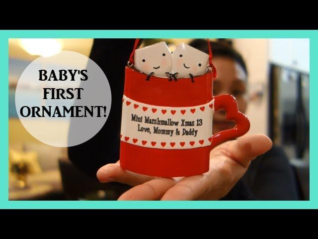 Baby's First Ornament! Pregnancy Vlog! Vlogmas Day 12