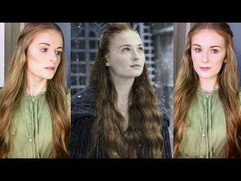 Sansa Stark Hair + Makeup Tutorial   'Game of Thrones'/Medieval!