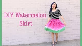 DIY Watermelon Skirt | Crafty Amy