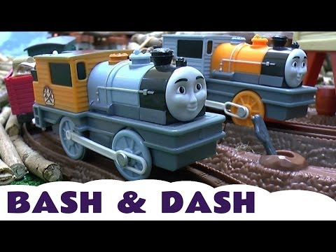 BASH & DASH Thomas & Friends Trackmaster Toy Train Set Misty Island Prank Engines Spotlight Series