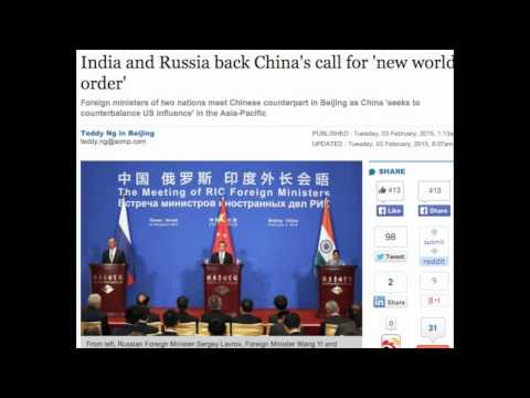 India and Russia back China's call for 'new world order.