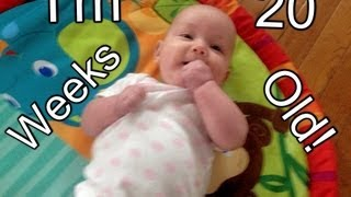 20 Weeks Old! (Tummy time, rolls over, baby talk!)