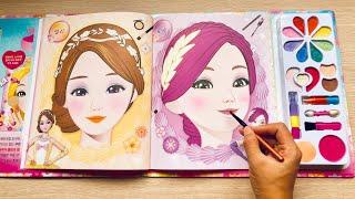 Toys for kids The princess Look book Korean Makeup set part 1, (Chim Xinh)