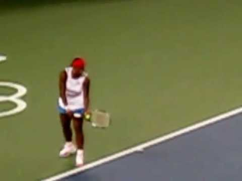 Serena Williams is Smashing Racquet - Beijing Olympics 2008
