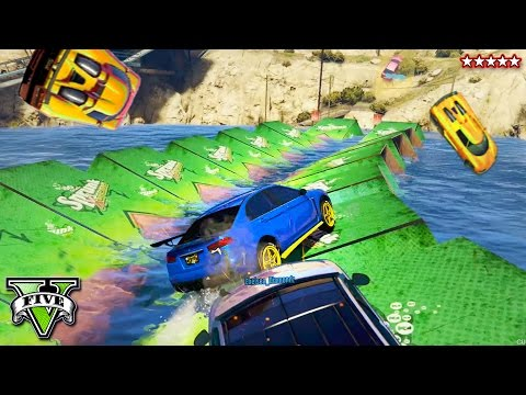 GTA 5 JUMP THE WATER RALLY RACE!! Super Epic Off Road Racing! GTA 5 Funny Moments