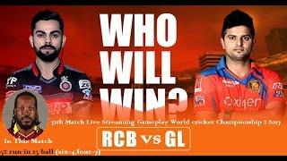 27th April Royal Challengers Bangalore Vs Gujarat Lions World Cricket Championship 2 2017 Gameplay