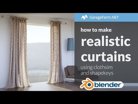 How to model realistic curtains in Blender
