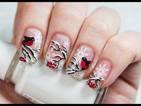 Новогодний дизайн гель ногтей фото новинки