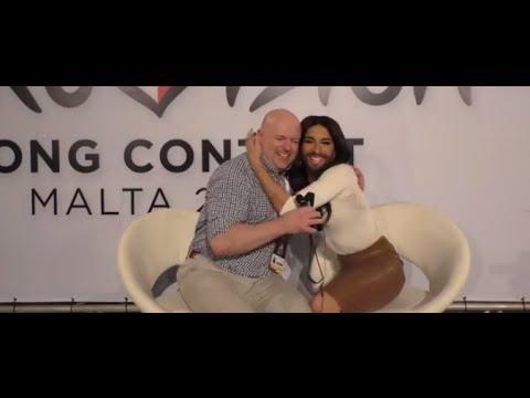 Eurovision Ireland Meets Conchita Wurst at the Maltese Eurovision 2015 Selection