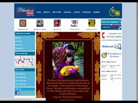 Bhutan Post Tracking Guide