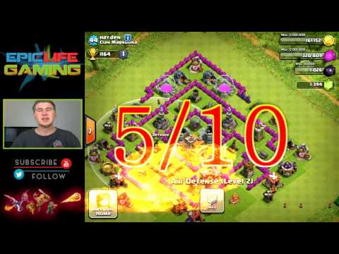 Clash of Clans Base Review - Town Hall 7 Defensive/Trophy Base - Farming Base