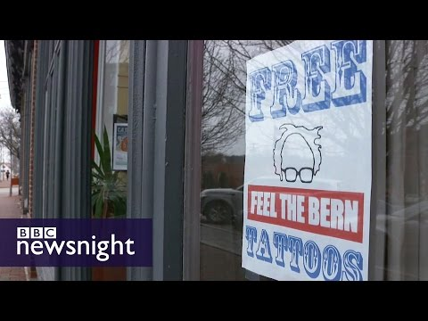 New Hampshire and Bernie Sanders tattoos- BBC Newsnight