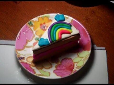 how to make a rainbow playdough cake