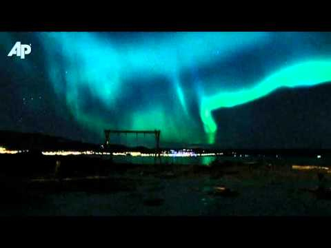 Solar Storm Makes for European Light Show