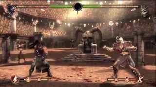 Mortal Kombat 9 Beating Shao Khan and Konquering t