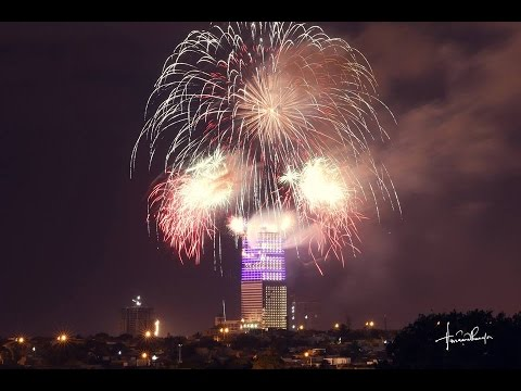 Fireworks Bahria Town Icon Tower Karachi 25th Jan 2016