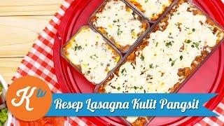 Resep Lasagna Kulit Pangsit