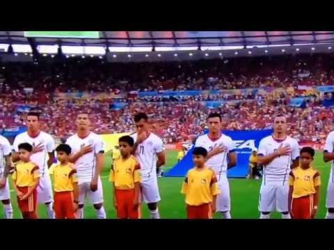Himno Nacional de Chile   España mundial  Brasil 2014 HD