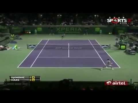 Champion Porsche Sponsored Tommy Haas Vs. Novak Djokovic | SONY OPEN 2013