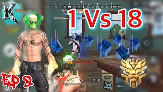 Grand Master 1 vs 18 Rules Of  Survival Khmer Ep 8 - TenKay -