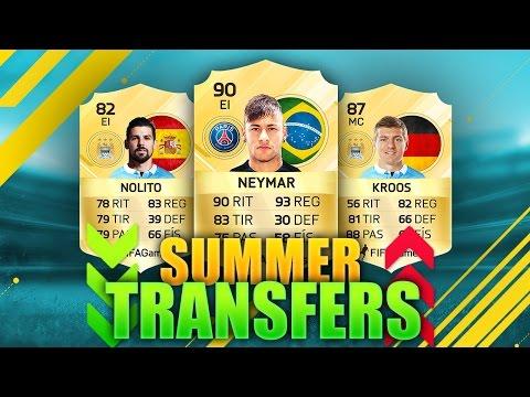 FIFA 17  SUMMER TRANSFERS |NEYMAR, NOLITO, KROOS & MÁS | FIFA TRANSFERS