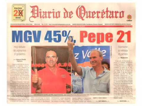 Manuel González Valle mantiene ventaja sobre Pepe Calzada