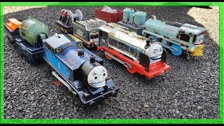Disney Cars Lightning Mcqueen Tayo the Little Bus   Thomas and Friends Toy Train Engine Race