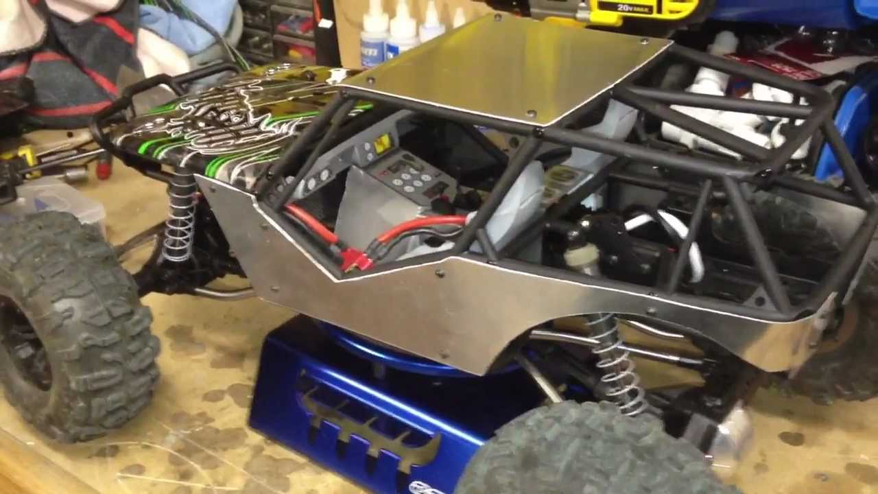 The Rcnetwork Axial Wraith Custom Aluminum Body Panels