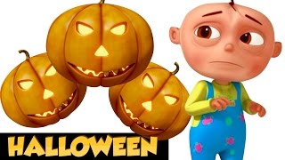 Five Lie Babies In a Haunted House | Halloween Songs For Children | Scary Spooky Song