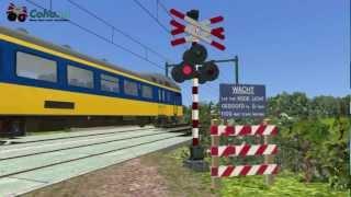 Dutch 🚂Train simulator 2019🚂 levelcrossings v1.0 Promo movie 🚂