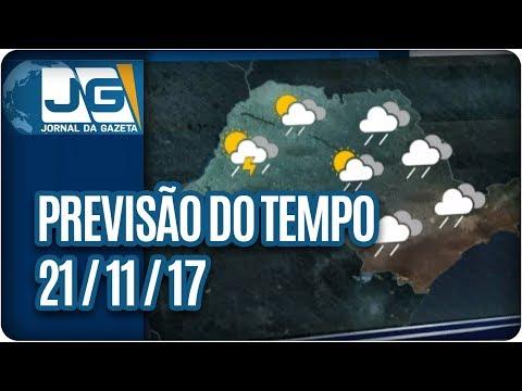 Previsão do Tempo - 21/11/2017