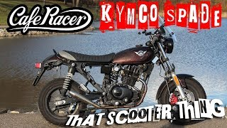 TST Test Ride  - Custom Kymco Spade 150 Cafe Racer, failed GoPro mount