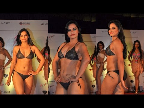 Hot Kamasutra Model's Bikini Slips At Miss Maxim Grand Finale 2014 video