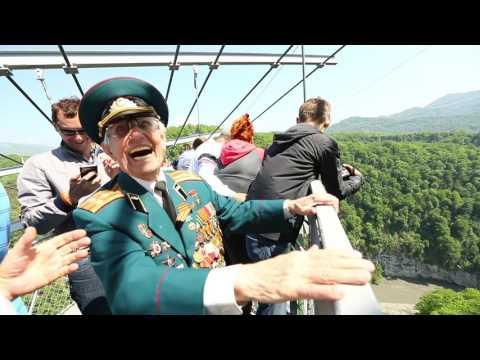 Ветераны ВОВ совершили прыжок в сочинском «Скайпарке»