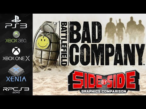 Battlefield Bad Company   Graphics Comparison   PS3 Xbox 360 Xbox One X RPCS3 Xenia   Side by Side