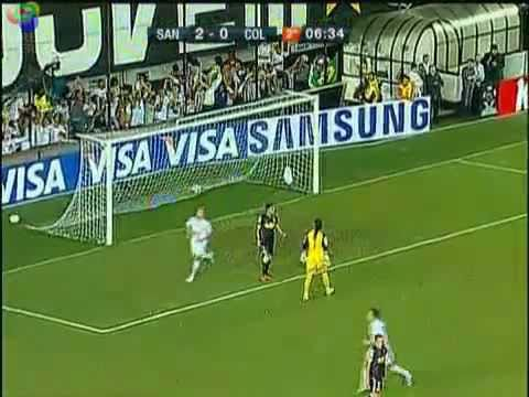 Golaço NEYMAR INCREDIBLE GOAL-red card for wearing Mask- Santos vs Colo colo 04/06/2011