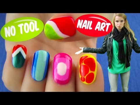 No Tool Nail Art! 5 Nail Art Designs & Ideas Without Any Nail Art Tools video