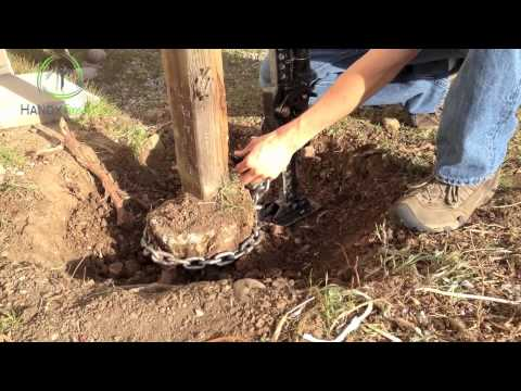 How To Remove A Fence Post Youtube