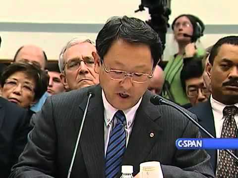 Aiko TOYODA, Président TOYOTA MOTOR -  Congrès américain Toyota recalls