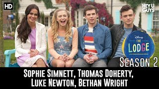 The Lodge Season 2 - Sophie Simnett, Thomas Doherty, Luke Newton, Bethan Wright Interview