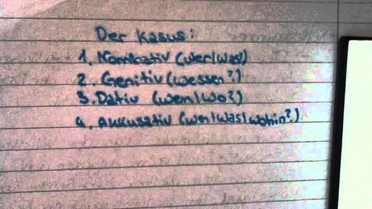 Kasus bestimmen nominativ akkusativ dativ und genitiv for Nominativ genitiv dativ akkusativ