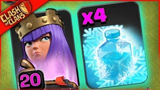 WHAT HAPPENS WHEN YOU USE ONLY FREEZE in Clash of Clans?