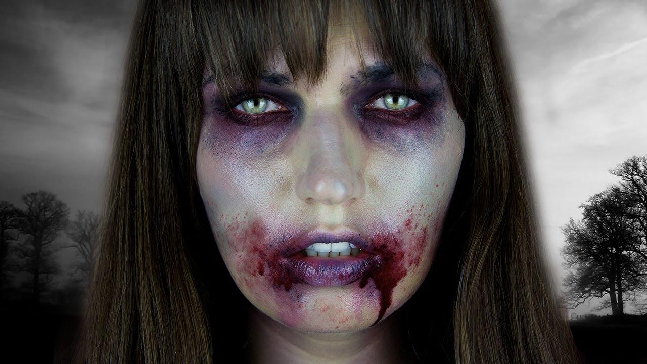 The Walking Dead ZOMBIE Halloween Tutorial - YouTube