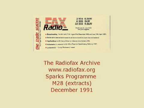 Radiofax the Shortwave radio station - Sparks Media and Technology programme M28