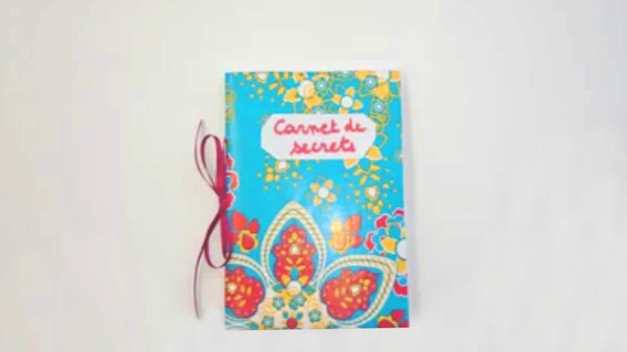 fabriquer carnet de secrets