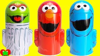 Kids Toy Videos Learn Counting with Sesame Street and Play Doh Surprises