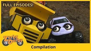 Zerby Derby - Fun Adventures Compilation | Zerby Derby Full Episodes Season 1 | Kids Cars