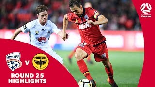 Hyundai A-League 2017/18 Round 25: Adelaide United 3 - 1 Wellington Phoenix