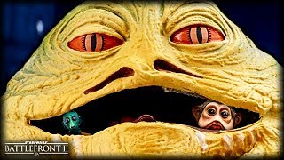 Star Wars Battlefront 2 JABBA'S GREEN JUICE? - Funny Gameplay Moments